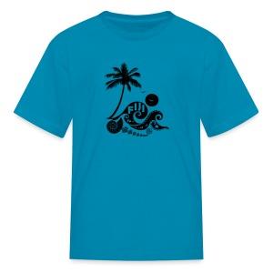 Fiji Tribal wave Kids T-Shirt - Kids' T-Shirt