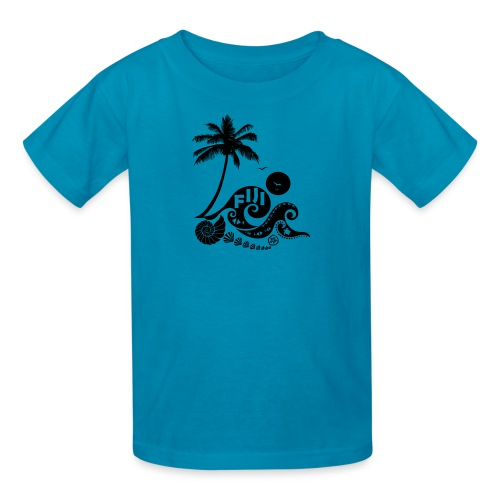 Fiji Tribal wave Kids T-Shirt - Kids' T-Shirt