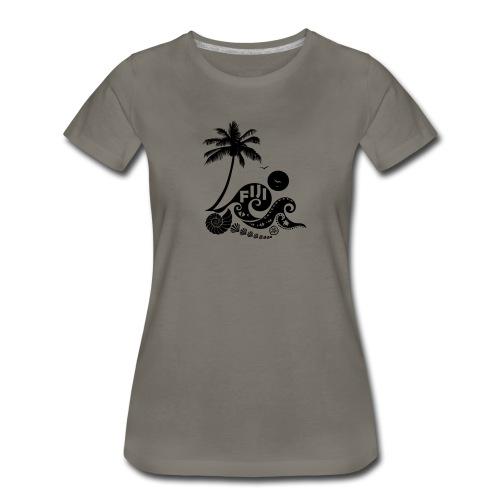 Fiji Tribal wave Women's Premium T-Shirt - Women's Premium T-Shirt