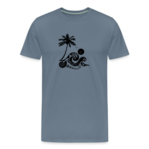 Fiji Tribal wave Men's Premium T-Shirt - Men's Premium T-Shirt
