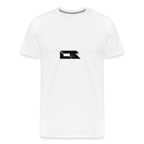 Black Corrupted Logo - Men's Premium T-Shirt