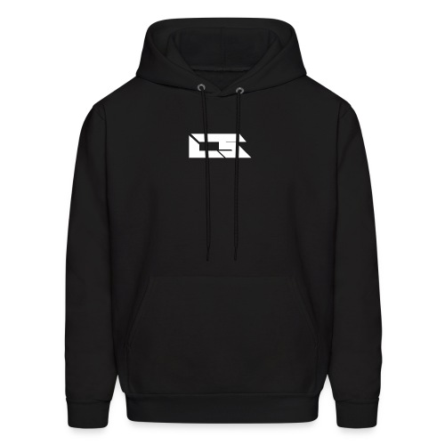 White Corrupted Logo - Men's Hoodie