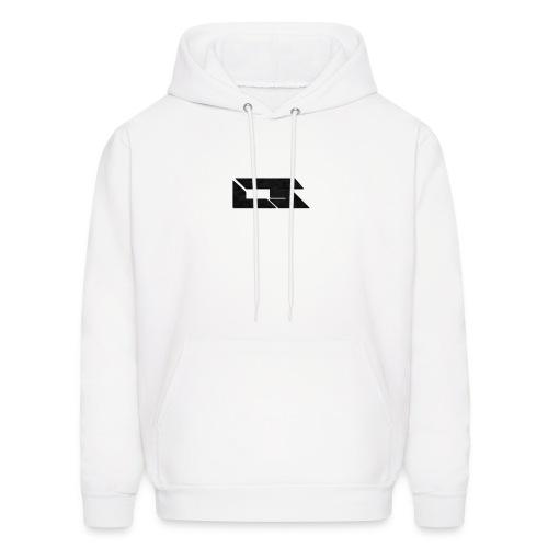 Black Corrupted Logo - Men's Hoodie