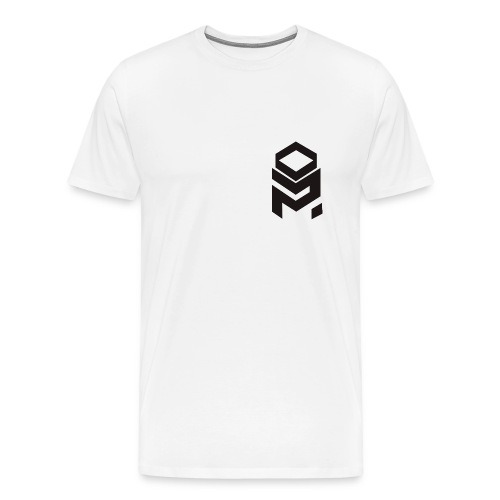 OptiMystic (White) -Black Logo - T-Shirt - Men's Premium T-Shirt