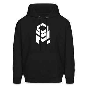 OptiMystic (Black) - White Logo - Hoodie - Men's Hoodie