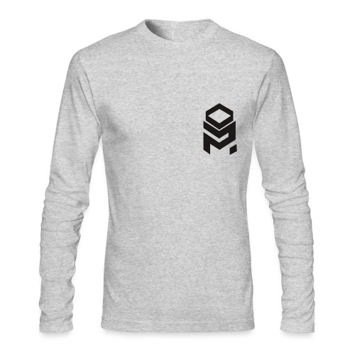 OptiMystic (White) -Black Logo - LONG SLEEVE - Men's Long Sleeve T-Shirt by Next Level