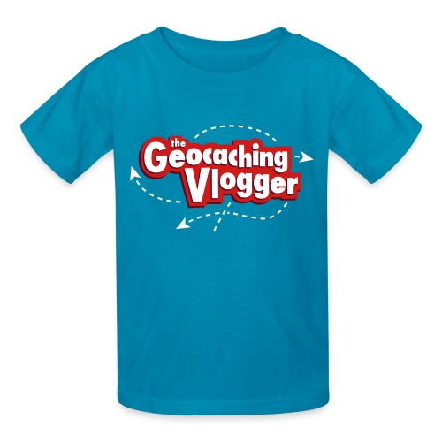 Geocaching Vlogger Kid's T-Shirt (turquoise) - Kids' T-Shirt