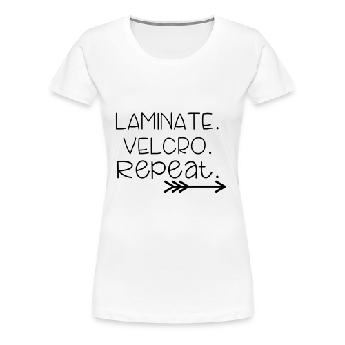 Laminate Velcro Repeat - Women's Premium T-Shirt