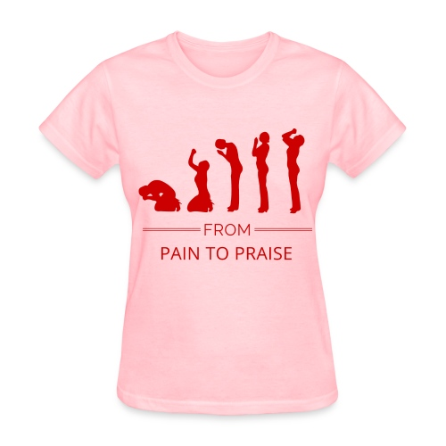From Pain to Praise Classic Tee - light pink with red design - Women's T-Shirt