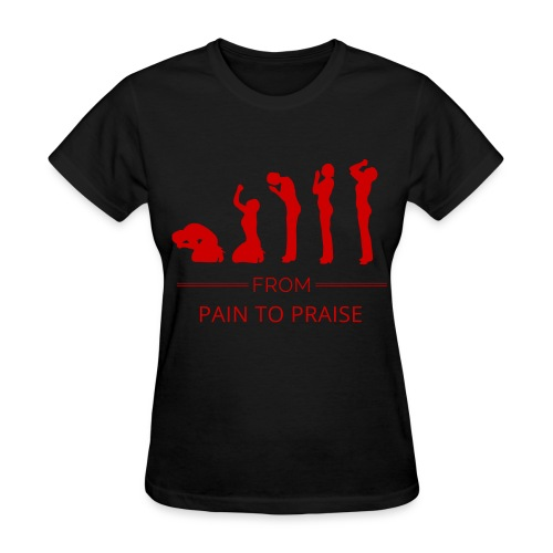 From Pain to Praise Classic Tee - black with red design - Women's T-Shirt