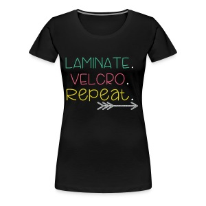 Laminate Velcro Repeat 2 - Women's Premium T-Shirt