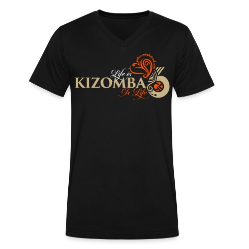 Life is Kizomba LONG tshirt - Men's V-Neck T-Shirt by Canvas