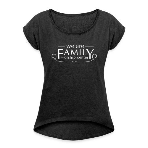 Women's Rolled Sleeve, Boxy T-Shirt - Women's Roll Cuff T-Shirt
