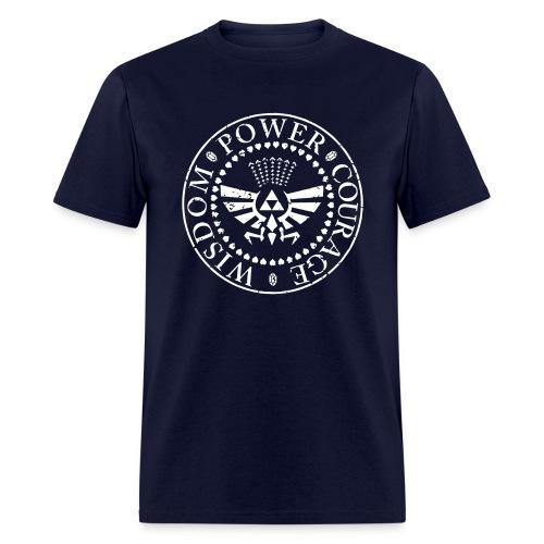 Zelda - WISDOM POWER COURAGE - Men's T-Shirt
