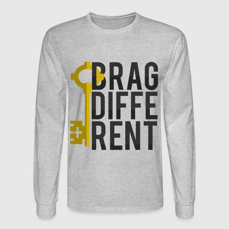 Major Key - I BRAG DIFFERENT Men's Long Sleeve - Men's Long Sleeve T-Shirt