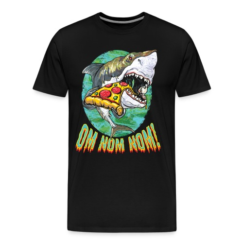 Great White Shark Pizza - Men's Premium T-Shirt