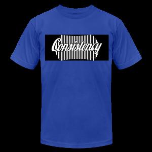 Consistency Blue Shirt - Men's Fine Jersey T-Shirt