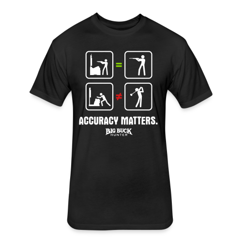 *PREMIUM* Accuracy Matters - Fitted Cotton/Poly T-Shirt by Next Level