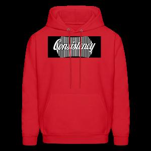 Consistency Red Hoodie - Men's Hoodie