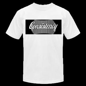 Consistency White Shirt - Men's Fine Jersey T-Shirt