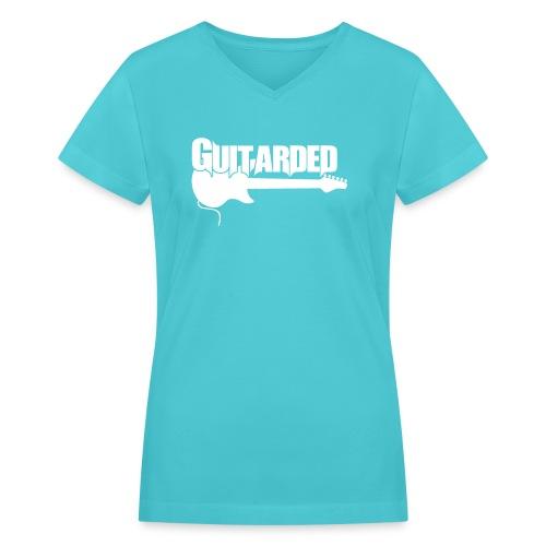 Guitarded Ladie's T - Women's V-Neck T-Shirt