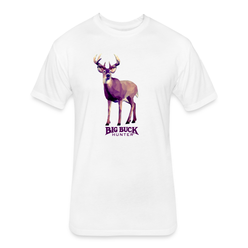 *PREMIUM* Polygon Deer - Fitted Cotton/Poly T-Shirt by Next Level