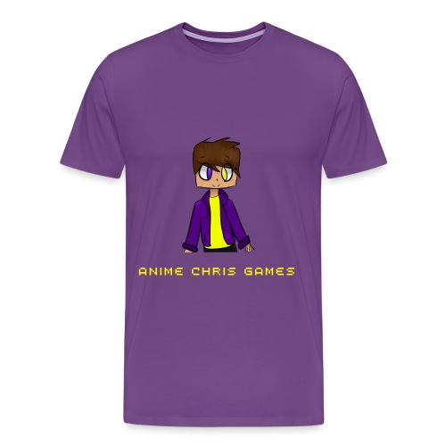 Anime Chris Games Male T-Shirt! - Men's Premium T-Shirt