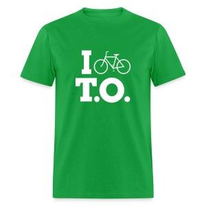 Men - I Bike T.O. - Green - Men's T-Shirt