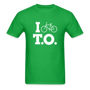Men - I Bike T.O. - Green - Men's T-Shirt