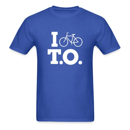 Men - I Bike T.O. - Blue - Men's T-Shirt