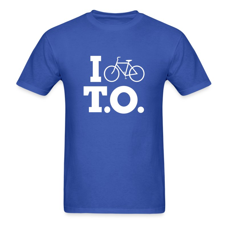 Men - I Bike T.O. - Blue - Men's T-Shirt