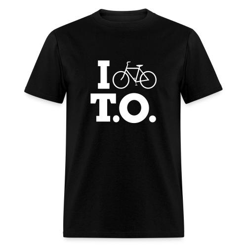 Men - I Bike T.O. - Black - Men's T-Shirt