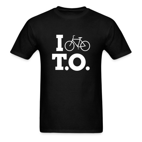 Men - I Bike T.O. - Black - Men's T-Shirt
