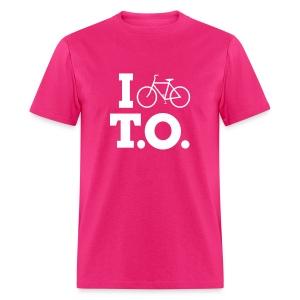 Men - I Bike T.O. - Pink - Men's T-Shirt