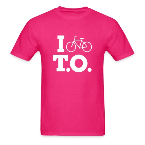 Men - I Bike T.O. - Pink - Men's T-Shirt