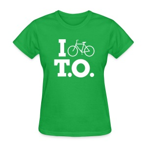 Women - I Bike T.O. - Green - Women's T-Shirt