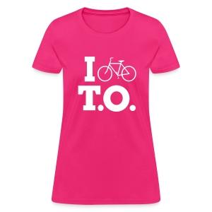 Women - I Bike T.O. - Fuchsia - Women's T-Shirt