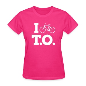 Women - I Bike T.O. - Fuchsia - Women's T-Shirt