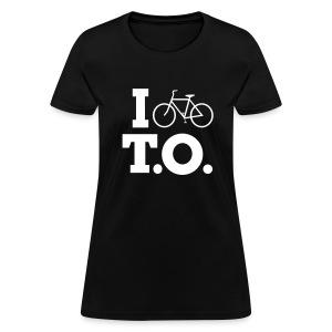 Women - I Bike T.O. - Black - Women's T-Shirt