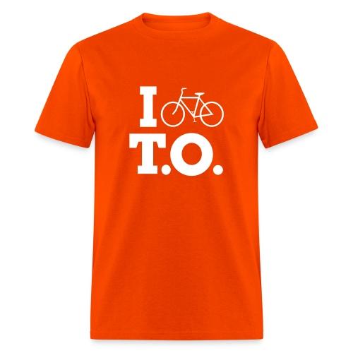 Men - I Bike T.O. - Orange - Men's T-Shirt