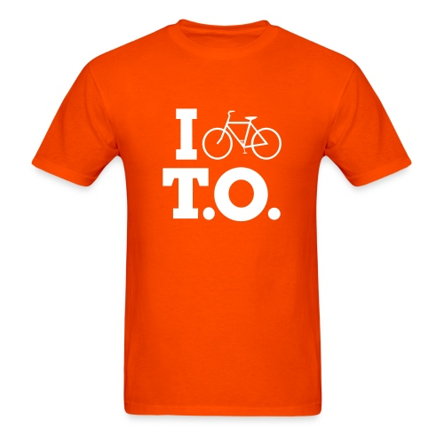 Men - I Bike T.O. - Orange - Men's T-Shirt