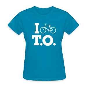 Women - I Bike T.O. - Turquoise - Women's T-Shirt