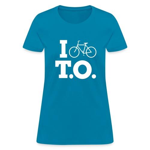 Women - I Bike T.O. - Turquoise - Women's T-Shirt