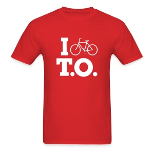 Men - I Bike T.O. - Red - Men's T-Shirt