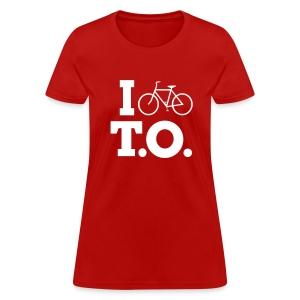 Women - I Bike T.O. - Red - Women's T-Shirt