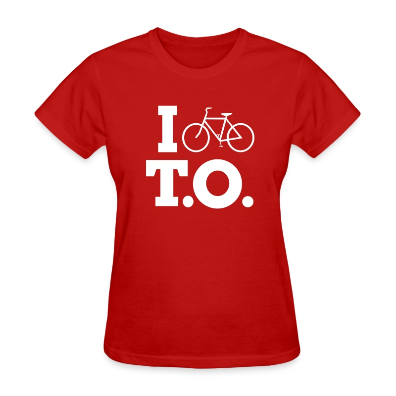 Women - I Bike T.O. - Red - Women's T-Shirt