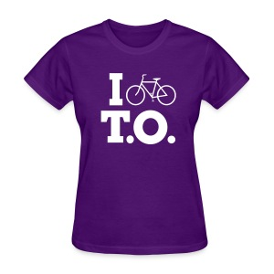 Women - I Bike T.O. - Purple - Women's T-Shirt