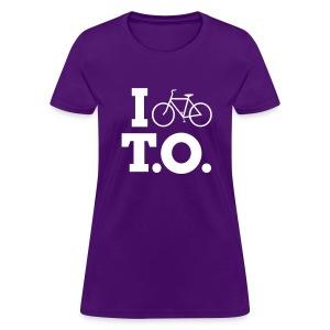 Women - I Bike T.O. - Purple - Women's T-Shirt