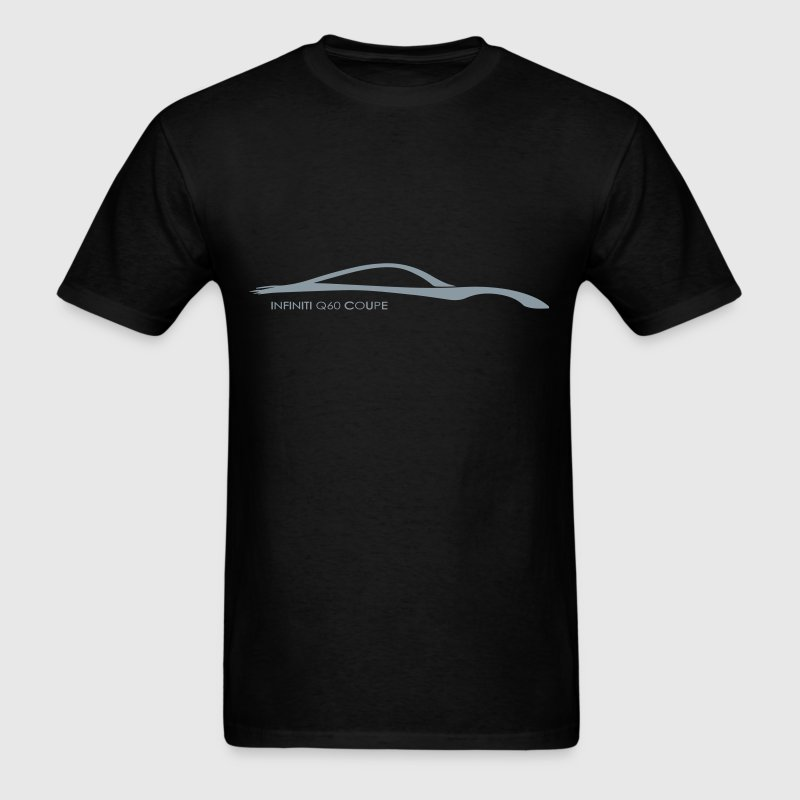 Infiniti Q60 Coupe Metallic Silver Brushstroke - Men's T-Shirt