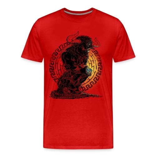 Puzzled Minotaur Mythology - Men's Premium T-Shirt